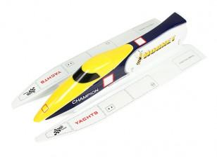 Hornet Formule-1 Tunnel Hull Racing Bateau 650mm (Bateau Hull seulement)