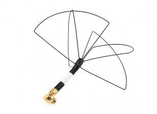Circulaire Skew Wireless Planar Antenna roue pour transmetteurs 1.2GHz (RHCP SMA)