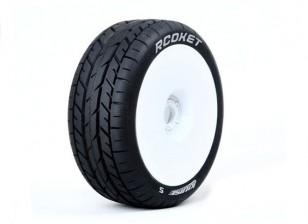 LOUISE B-ROCKET 1/8 échelle Buggy Tires Soft Compound / White Rim / Gendarmerie