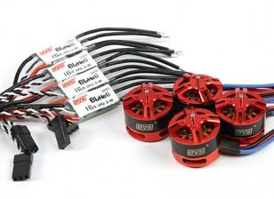 DYS BE1806 2300KV Combo réglé avec les contrôleurs 16A Opto Speed X 4
