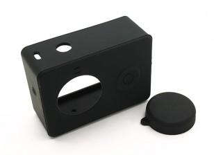 Etui de protection et bouchon d'objectif pour Xiaoyi Action Camera (Black)