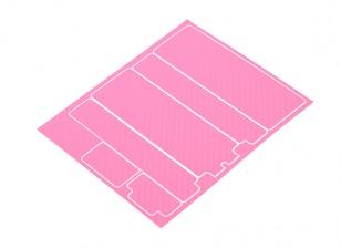 Panneaux décoratifs TrackStar Cache Batterie pour modèle standard 2S Hardcase Carbon Rose (1 Pc)