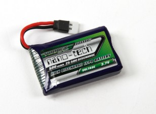 Turnigy nano-tech 500mAh 1S 25 ~ 50C Lipo Pack (Losi Mini Compatible)