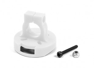Support moteur pour 22 Series Brushless Motors sur 12mm Tube WHITE (1 pc)