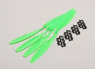 GWS style slowfly Hélice 12x4.5 Green (CCW) (4pcs)