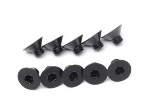 Métal Flat Head Machine Vis hexagonale M4x5-10pcs / set