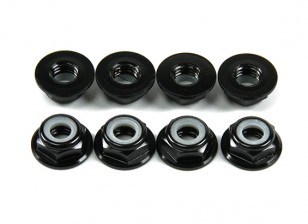 Aluminium Bride Low Profile Nyloc Nut M5 Noir (CW) 8pcs
