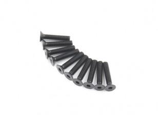 Métal Flat Head Machine Vis hexagonale M5x26-10pcs / set