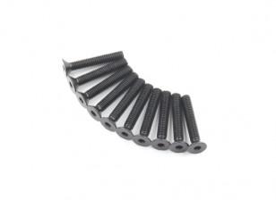Métal Flat Head Machine Vis hexagonale M5x30-10pcs / set