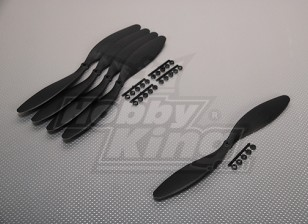 GWS style slowfly Hélice 11x4.7 Noir (CCW) (5pcs)
