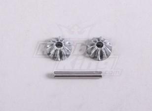 Diff. Bevel Gear S. W / Shaft (1pc / sac) - A2016T et A3002