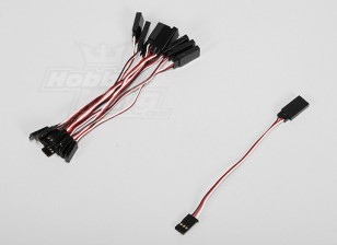 10CM Servo Lead (Futaba) 32AWG Ultra Light (10pcs / set)