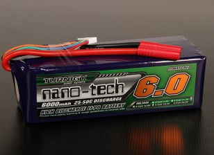 Turnigy nano-tech 6000mAh 6S 25 ~ 50C Lipo Paquet