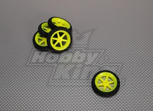 Super Light multi Spoke Wheel D50x13mm (5pcs / bag)