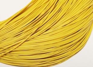 Turnigy Pure-silicone Fil 24AWG 1m (Jaune)