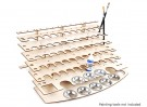 DIY Laser Cut  Paint Bottle Desk Organiser 7 Tier 400mm