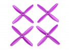Dalprop Q4045 Bull Nose 4 Blade Propellers CW/CCW Set Purple (2 pairs)