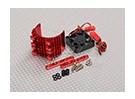 Motor Heat Sink w / Fan aluminium rouge (36mm)