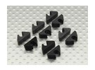 Air Line / Ligne de carburant / Câble clip Tidy pour 4mm DO (10pc)