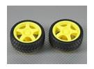 28mm Roue / Tire Set (2Pcs / Bag)