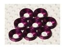 Fraisée Rondelle en aluminium anodisé M4 (Violet) (8pcs)