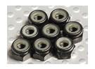 Aluminium anodisé noir M4 Nylock Nuts (8pcs)