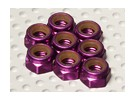 Violet aluminium anodisé M5 Nylock Nuts (8pcs)