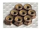 Titane Couleur aluminium anodisé M5 Nylock Nuts (8pcs)