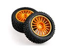 Basher RZ-4 1/10 Rally Racer - 30mm Complete Rear Tire Set - Gold (2pcs)