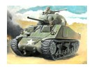 Italeri 1/56 Echelle 1/56 Italeri US M4 Sherman 75mm Kit Plastic Model