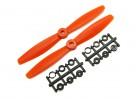 Gemfan Bull Nose BN6045 Hélices CW / CCW Set (Orange) 6 x 4,5