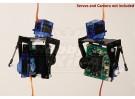 FPV en fibre de verre Pan-Tilt Mont Caméra L-Taille