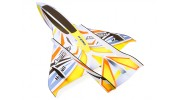 H-King Arctic Cat Water Plane - Glue-N-Go - Foamboard PP 820mm Yellow (Kit) - top