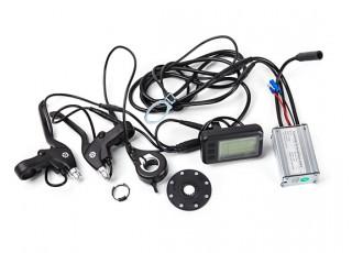 "E-Bike Conversion Kit for 26"" Bikes (PAS Front Wheel Drive) (36V/8.8A)  (EU Plug) - display and brakes"