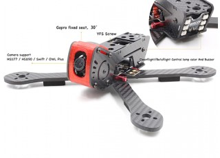 GEP-AX5 Airbus FPV Racing Drone Frame 215 (Red) (Kit) - Camera