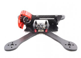 GEP-AX5 Airbus FPV Racing Drone Frame 215 (Red) (Kit) - Left Side