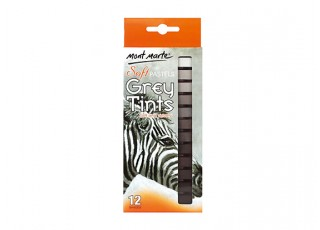 Mont Marte Soft Pastels Grey Tints (12pcs) fully packaged