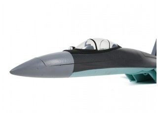 """SU-35 MkII Fighter Jet 735mm (29"""") EPO (PnP) - front view"""