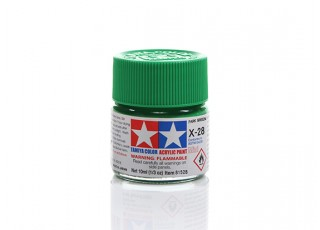 Tamiya X-28 Gloss Park Green Mini Acrylic Paint (10ml)