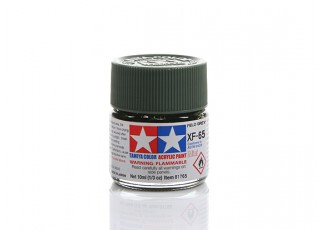 Tamiya XF-65 Flat Field Grey Mini Acrylic Paint (10ml)