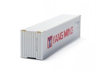 HO Scale 40ft Shipping Container (Yang Ming) front view