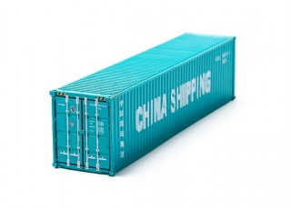 HO Scale 40ft Shipping Container (CHINA SHIPPING) rear view