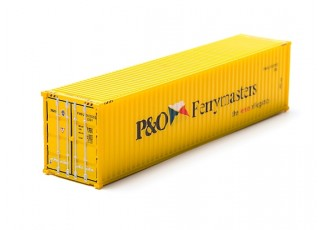 HO Scale 40ft Shipping Container (P&O Ferrymasters) rear view