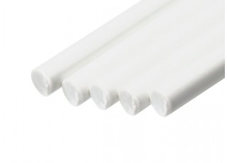 ABS Round Rod 5.0mm x 500mm White (Qty 5)