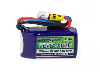 Turnigy nano-tech 260mah 2S 35~70C Lipo Pack (E-flite Compatible EFLB2002S25)