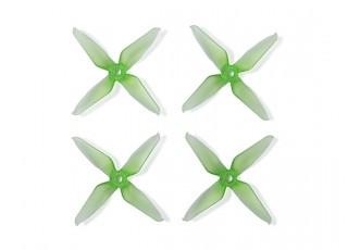 Team RaceKraft 3041 Q4CS 4 Blade Props - Clear Green
