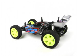 Velocis Viper 1/32 2WD Buggy (RTR) (Blue) - side view