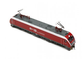 HXD1D Electric Locomotive Red HO Scale (DCC Equipped) side