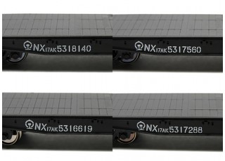 NX17K Flat Car (HO Scale - 4 Pack) Set 3 Lettering detail