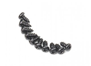 Screw Round Head Phillips M2.6x5mm Self Tapping Steel Black (10pcs)